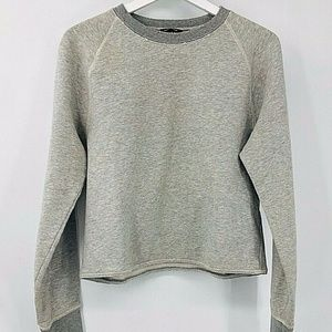 🎀 Club Monaco Distressed Cropped Sweatshirt